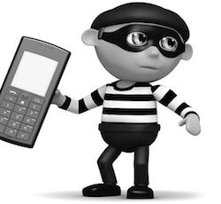 mobile phone thief
